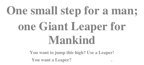 One small step for a man; 