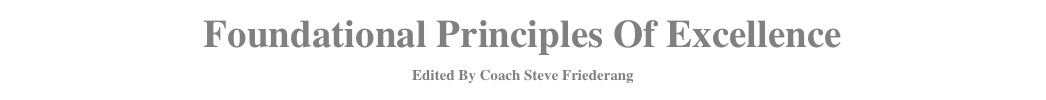 Foundational Principles Of Excellence 